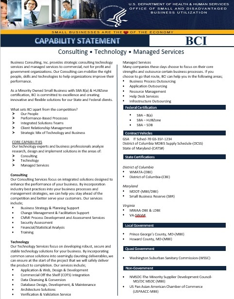 Capability Statement Template 16