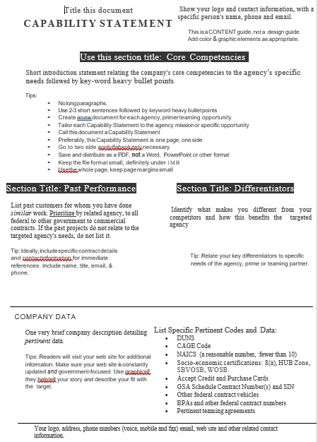 Capability Statement Template 22