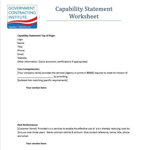 Capability Statement Template 25