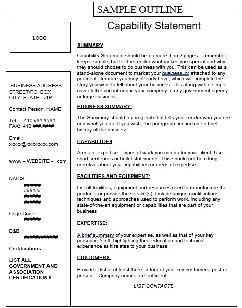 Capability Statement Template 27