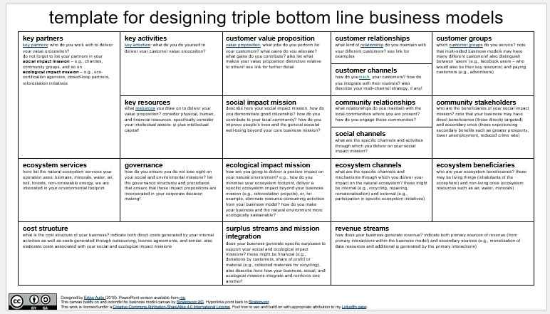Business Model Template 003