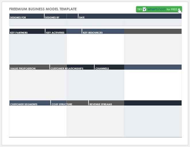 Business Model Template 012