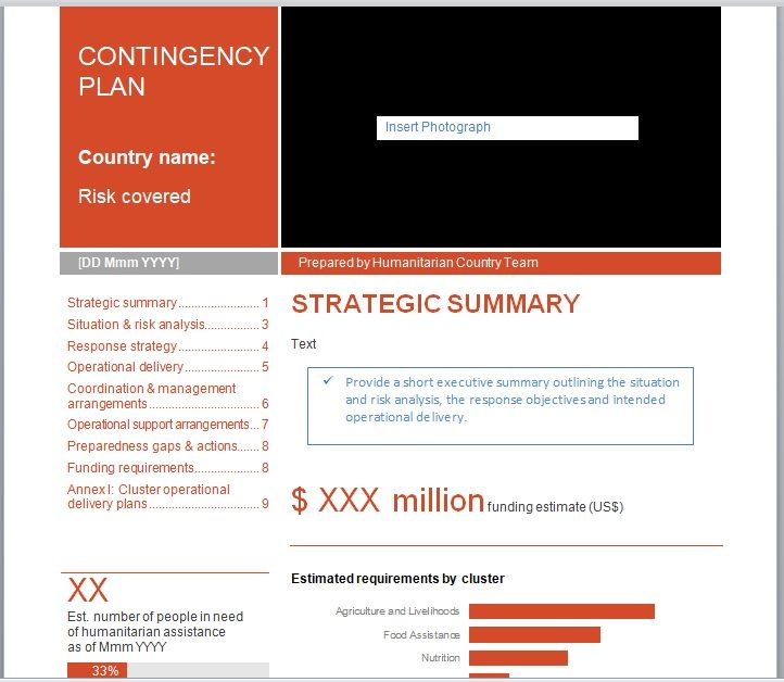 Contingency Plan Template 05
