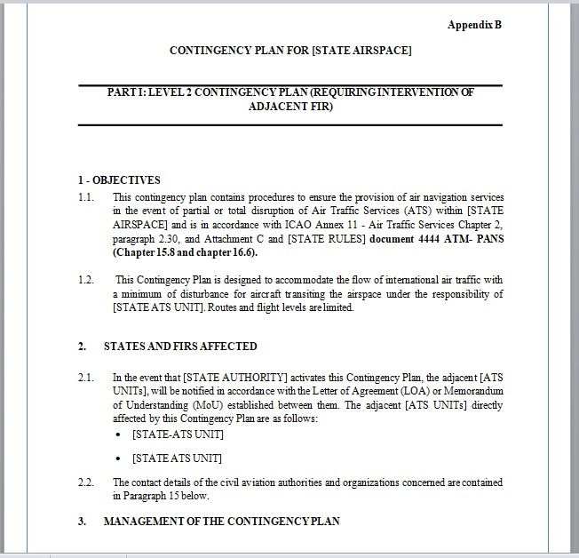Contingency Plan Template 06