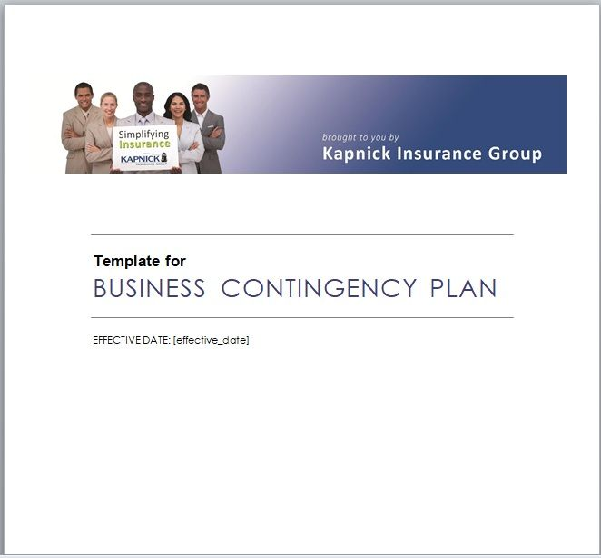 Contingency Plan Template 09