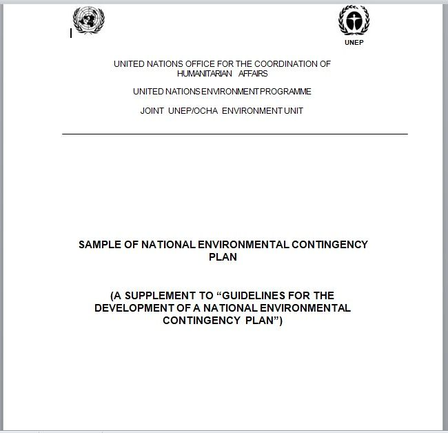Contingency Plan Template 10
