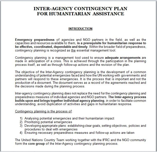 Contingency Plan Template 13