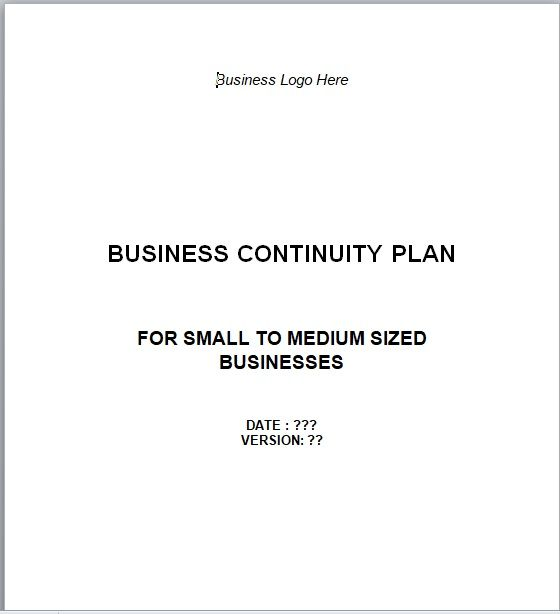 Contingency Plan Template 14