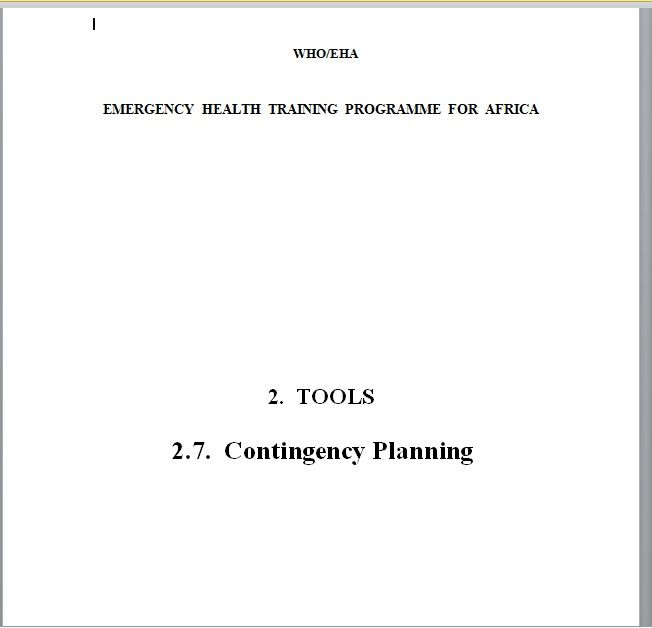 Contingency Plan Template 18