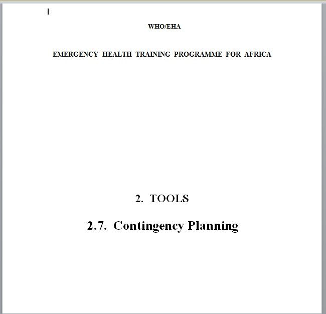 Contingency Plan Template 19