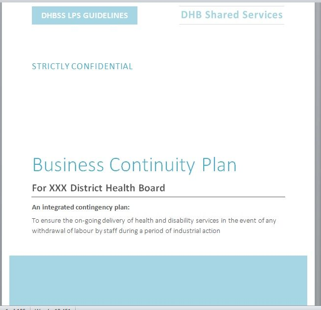 Contingency Plan Template 20
