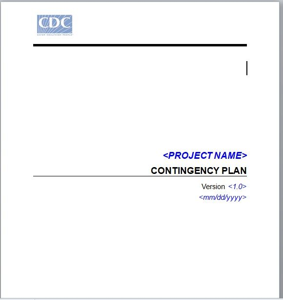 Contingency Plan Template 24