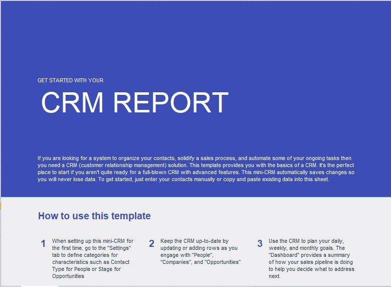 Customer Relationship Management Template 13