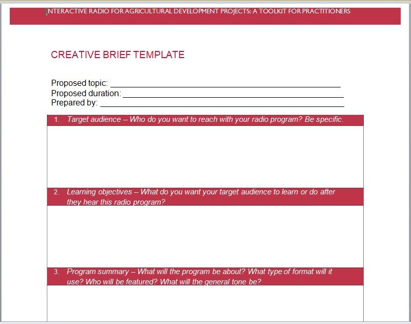 Design Brief Template 14
