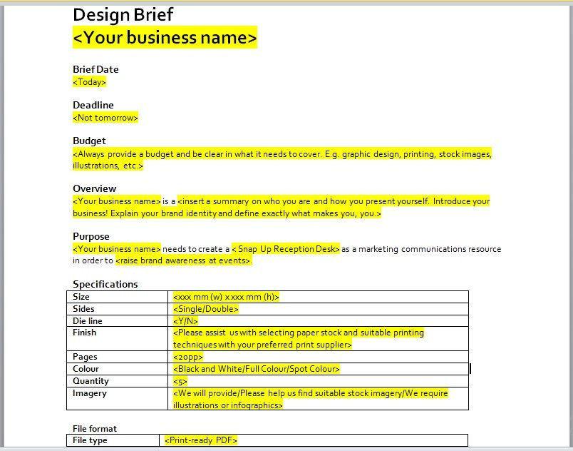 Design Brief Template 15