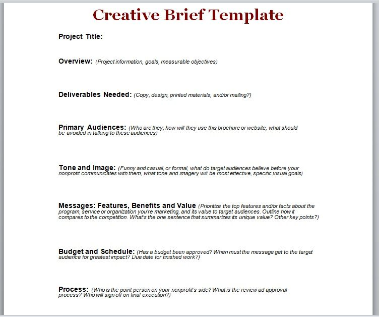 Design Brief Template 17