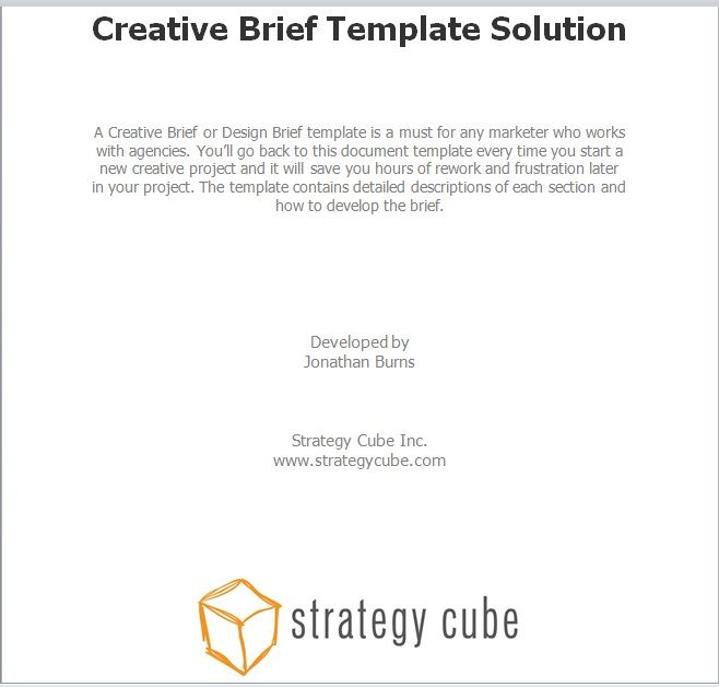 Design Brief Template 20