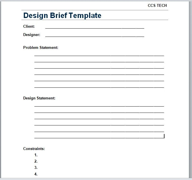 Design Brief Template 25