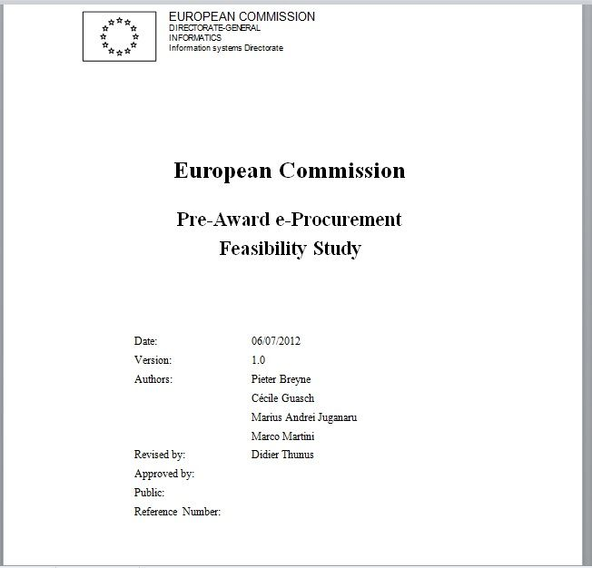 Feasibility Study Template 01