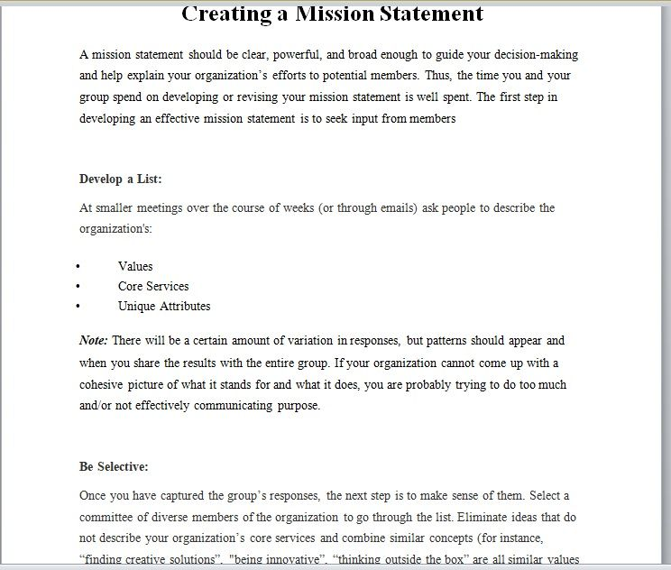 Importance Of Mission Statement In Business 13