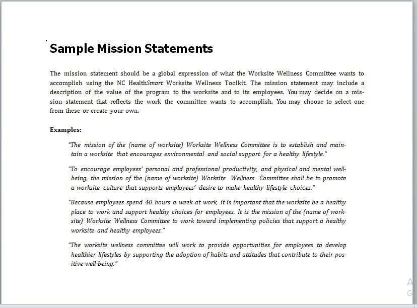 Importance Of Mission Statement In Business 18