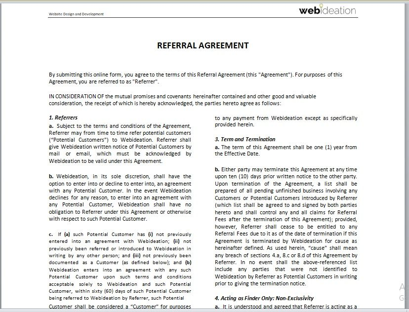 Referral Agreement Template 07