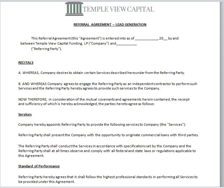 Referral Agreement Template 09