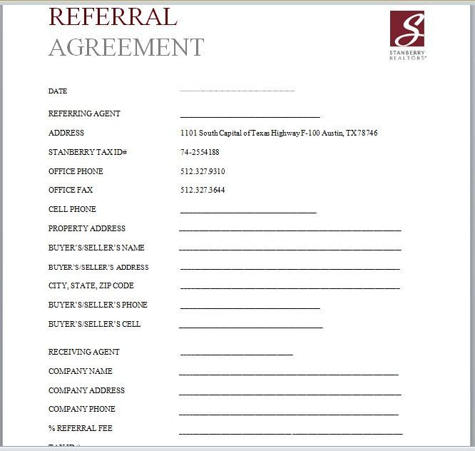 Referral Agreement Template 11