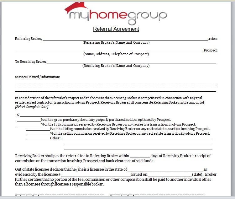 Referral Agreement Template 12