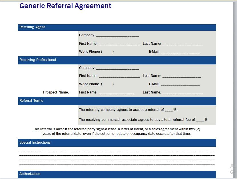 Referral Agreement Template 16