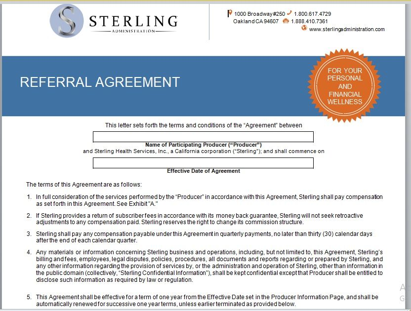 Referral Agreement Template 23