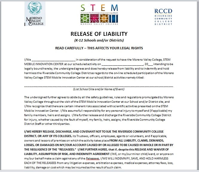 Release Of Liability Form Template 02