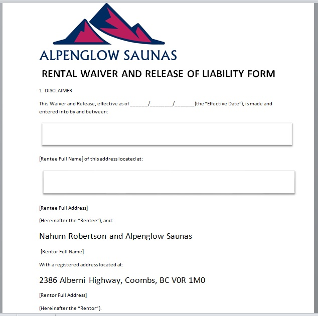 Release Of Liability Form Template 12