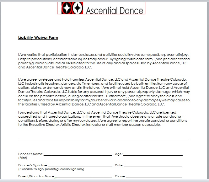 Release Of Liability Form Template 13