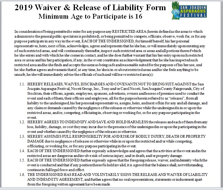 Release Of Liability Form Template 21