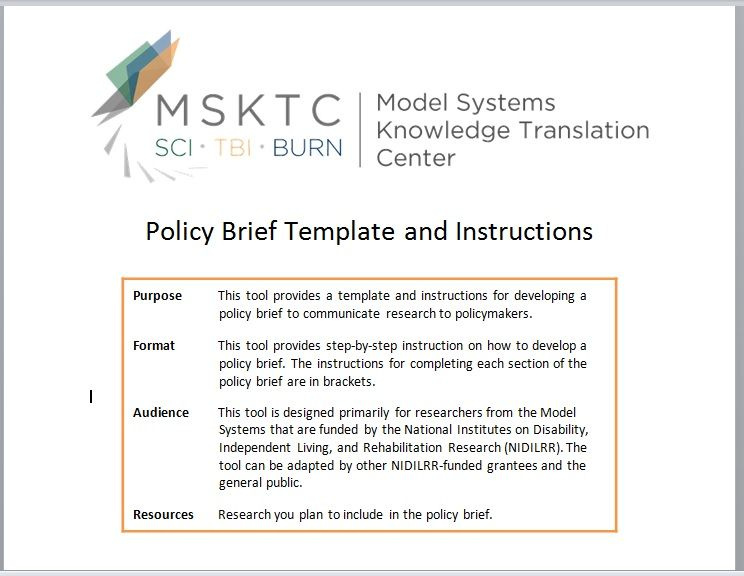 Policy Brief Templates
